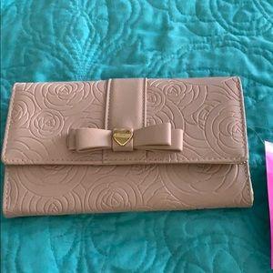 NWT Betsey Johnson blush wallet